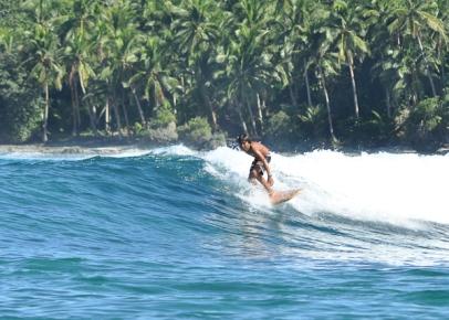 Balikbayod, Wayay, surfing on a halfboard